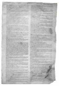 Statuto della Compagnia dei Lombardi del 1256 (Archivio di Stato di Bologna)