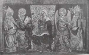 Madonna con Bambino tra San Nicolò, San Pietro, San Michele Arcangelo e San Petronio. (Tommaso Garelli, 1446)